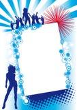 Blue Red Fest. Flier for a party or fest vector illustration