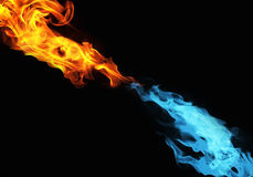 Blue and red fire royalty free stock image