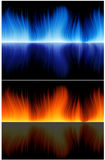 Blue_and_red_flame Stock Images