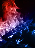 Blue and red flame Stock Photos