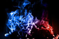 Blue and red flame Stock Photo