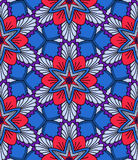 Blue and Red Flower Pattern Stock Photos