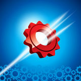 Blue and red gears Royalty Free Stock Images