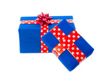 Blue and red gifts Royalty Free Stock Photography