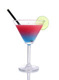 Blue-red  gradient Cocktail with design Stock Images