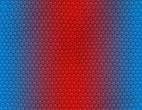 Blue and red gradient snake iguana pattern, hexagonal scale. Blue and red gradient snake skin seamless pattern, hexagonal scale vector illustration