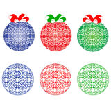 Blue , red and green  balls of Christmas Stock Image