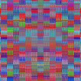 Blue red green and pink plaid pattern abstract Royalty Free Stock Image