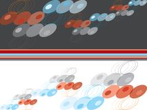 Blue, red and grey retro dots Stock Images