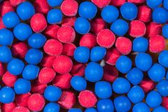 Blue and red head matchsticks Royalty Free Stock Image