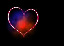 Blue-red heart Stock Photos