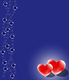 Blue and Red Hearts Design stock photos