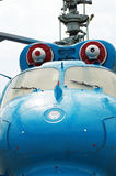 Blue red helicopter Royalty Free Stock Photos