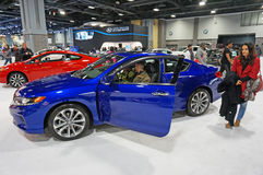 Blue and Red Honda Accords Royalty Free Stock Photos