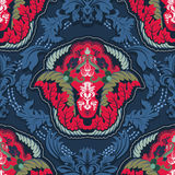 Blue and red indian seamless pattern Stock Image