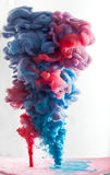 Blue and red ink Stock Photography