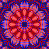 Blue Red Kaleidoscope. For moments of meditation and happiness Stock Photography