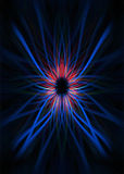 Blue and red light trails background Stock Photos