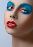 Blue red lips  Royalty Free Stock Photo