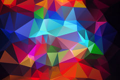 Blue red low poly background Stock Photos
