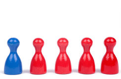 Blue and Red Ludo Figures Royalty Free Stock Photography