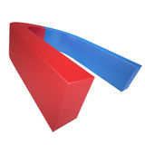 Blue and red magnet Royalty Free Stock Image
