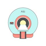 Blue and red medical imaging system Royalty Free Stock Photo