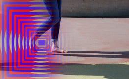 Blue, Red, Modern Art, Line royalty free stock photo