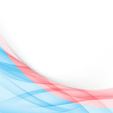 Blue and red modern folder border template Royalty Free Stock Photo