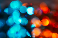 Blue and red natural bokeh Stock Photo