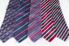 Neck Ties. Blue and red neck ties with stripes Stock Image