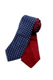 Blue and red necktie. On isolated Stock Photos