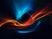 Blue red orange abstract dragon on black background beautiful. Picture Vector Illustration