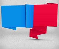Blue and Red Origami Background Royalty Free Stock Image