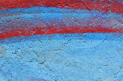 Red stripes on blue background Stock Image