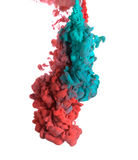 Blue and red paint Royalty Free Stock Photo