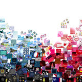 Blue & red patchwork Royalty Free Stock Images