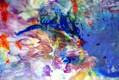 Blue red pink purple smoky pastel colors, bright pastel paint acrylic watercolor background, colorful texture. Watercolor painting bright fluid smoky abstract royalty free stock photography