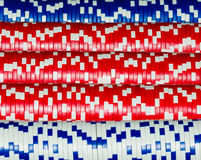 Poker chips. Blue and red poker chips Stock Images