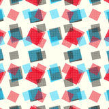 Blue and red polygons on a light background vector illustration Stock Photography
