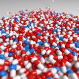 Blue, Red, Product, Drug Stock Photo