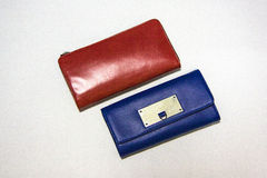 Blue and red purses Royalty Free Stock Photography