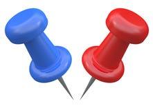 Push pins Royalty Free Stock Images