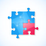 Blue and red puzzle Royalty Free Stock Image