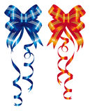 Blue and red ribbon Royalty Free Stock Images