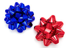 Blue and red ribbon Royalty Free Stock Photos