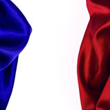 Blue and Red Satin. Border isolated on white Royalty Free Stock Photography