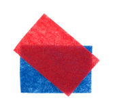 Blue Red Scouring Pads Royalty Free Stock Photography