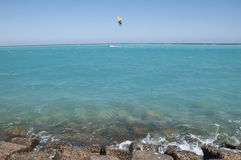 Blue Red sea. In Egypt full of water. The tide Royalty Free Stock Photography