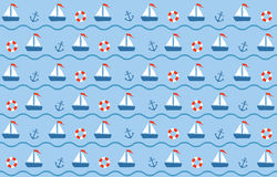 Blue-red Sea Seamless Stock Photography